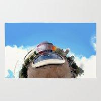 Around Tel Aviv Stereographic Panorama of Dizengoff Center Rug