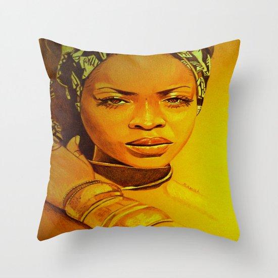 Erykah Badu Throw Pillow By Dezz Manuel