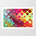 Beautiful HOME - Megafunky rainbow patterns Art Print