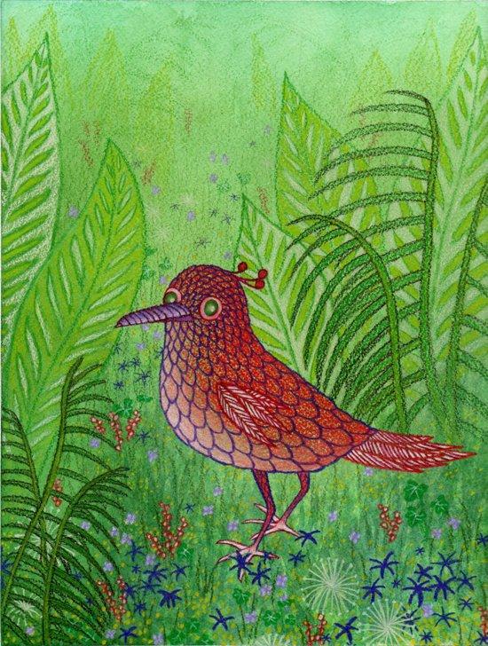 Red Bird Canvas Print