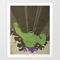 Paper Heroes - Hulk2 Art Print