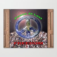 Peace At Last Poster Canvas Print