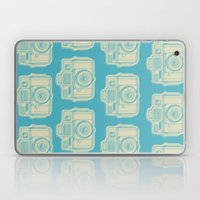 I Still Shoot Film Holga Logo - Turquoise/Tan Laptop & iPad Skin