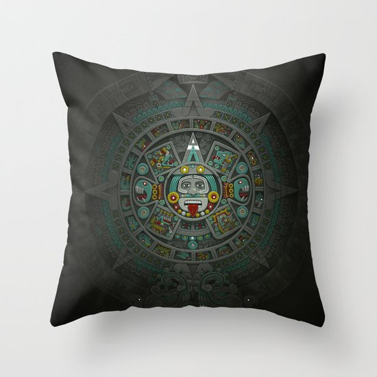 Stone of the Sun II. Throw Pillow