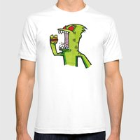 Kid Komodo Vs Burger Mens Fitted Tee White SMALL
