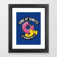 Sons Of Donuts / Simpsons / Donuts Framed Art Print