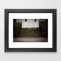 the stoop::charleston Framed Art Print