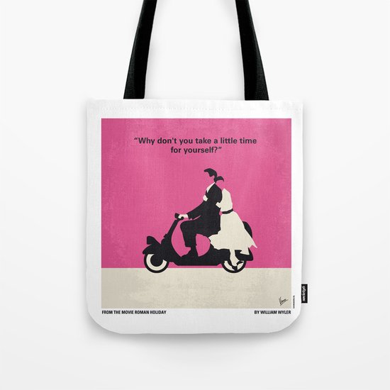 No205 My Roman Holiday minimal movie poster Tote Bag