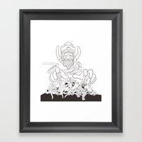 Fantastic Beards Framed Art Print