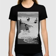 Bathing Woman In Vietnam… Womens Fitted Tee Black MEDIUM