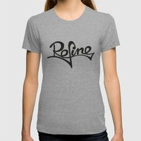 refine Womens Fitted Tee Athletic Grey SMALL