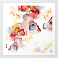 Abstract WWater Colour Art Print