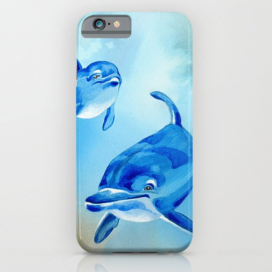 Floating Free - Dolphins iPhone & iPod Case