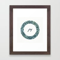 Christmas Wreath - Joy Framed Art Print