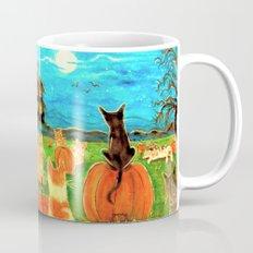 Seven Cats in Pumpkin Patch Mug