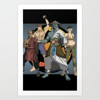 Mortal Kombat: Warriors of Light Art Print