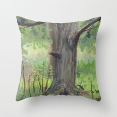 Maple in the Clearing Throw Pillow