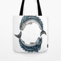 Fish Circle Tote Bag