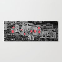red sheets Canvas Print