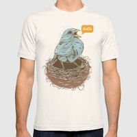 Twisty Bird Mens Fitted Tee Natural SMALL