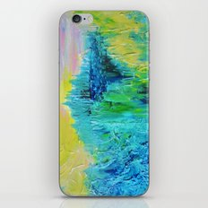 DREAM-SCAPE - Amazing Idyllic Nature Theme Pastel Dream Landscape Abstract Acrylic Painting iPhone & iPod Skin