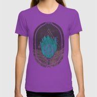 Pulsatilla Patens Womens Fitted Tee Ultraviolet SMALL