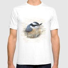 Red-breasted Nuthatch Mens Fitted Tee SMALL White