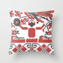 Ethno DJ Throw Pillow