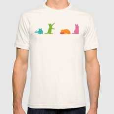 Cats Multicolor Mens Fitted Tee Natural SMALL