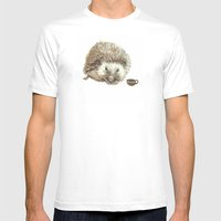 Hector the Hedgehog Mens Fitted Tee White SMALL