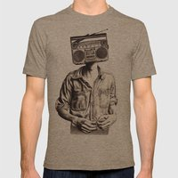 Radio-Head Mens Fitted Tee Tri-Coffee SMALL