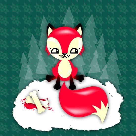 Fox's Christmas Dinner Art Print