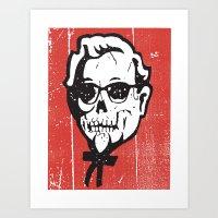 Skull Sanders No.2 Art Print