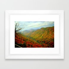 Gorgeous Chimney Rock in Late Autumn Framed Art Print