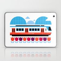 Postcards from Amsterdam / Train and Tulips Laptop & iPad Skin