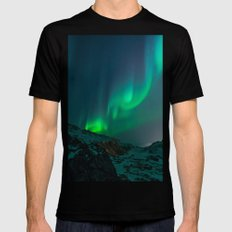 Aurora Mens Fitted Tee Black SMALL