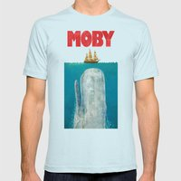 Moby  Mens Fitted Tee Light Blue SMALL
