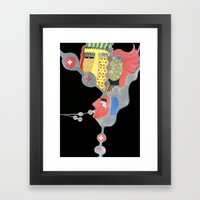Dark minds Framed Art Print