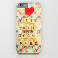 iPhone & iPod Case featuring Love is All You Need by happeemonkee