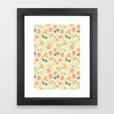 Autumn Floral Pattern Framed Art Print
