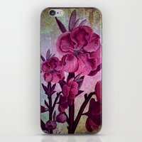 Pink Flowers And Rust iPhone & iPod Skin