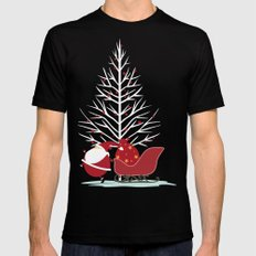 Happy Santa Mens Fitted Tee Black SMALL