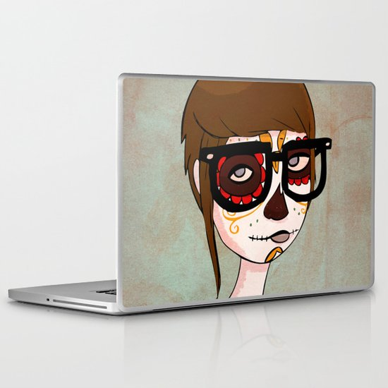 Day of the Dead Hipster Laptop & iPad Skin