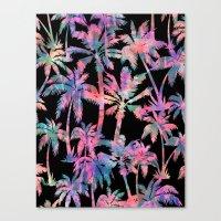 Maui Palm {Black} Canvas Print