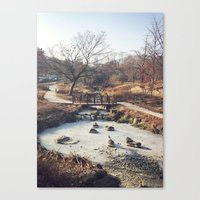 A Little Stream  Canvas Print
