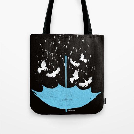 Umbrella Birds Tote Bag