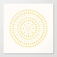 Radial - in Gold Canvas Print