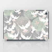 Doves And Flowers iPad Case