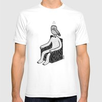 The Hypnowl Consultant Mens Fitted Tee White SMALL