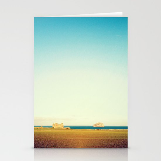 Tantallon Castle and Bass Rock Stationery Card